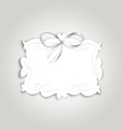 Frame ribbon vector image