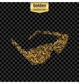 Gold glitter icon of sun glasses isolated vector image vector image