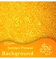 Golden flower seamless background vector image