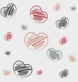 hand draw doodles background vector image vector image