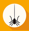 icon spider on white circle with a long shadow vector image