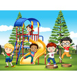International children at the park vector image vector image