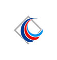 loop swirl company logo vector image vector image