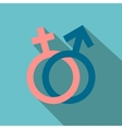 Male and female signs flat icon vector image