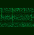 matrix background style computer virus and hacker vector image vector image