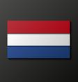 Modern style Netherland flag vector image