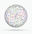 multicoloured sphere of global digital vector image vector image