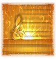 musical background with a gold treble clef vector image vector image
