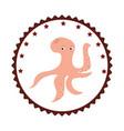 octopus sea food icon vector image vector image