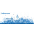 outline visakhapatnam india skyline with blue vector image vector image