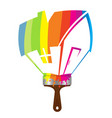paint brush house symbol vector image