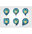 Pineapple mapping pins icons vector image vector image