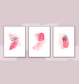pink and peach abstract watercolor compositions vector image vector image