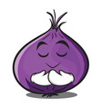 praying red onion character cartoon vector image vector image