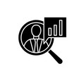 productivity black icon sign on isolated vector image