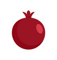 red fresh eco pomegranate icon flat style vector image vector image