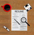 resume candidate to work vector image vector image
