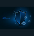 security shield for virus protection coronavirus vector image vector image