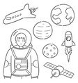 set astronaut vector image