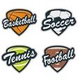 set baseball tennis soccer basketball and vector image