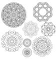 set circle 1color 2 380 vector image vector image