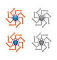 set circuit orbit vector image vector image