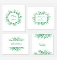 set frames and invitations with branches vector image