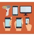 smartphone technology design vector image