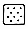 square salty cracker vector image vector image