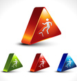 step up icon vector image