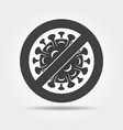 stop bacteria infected icon vector image