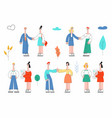 stylized flat corporate business people set vector image