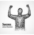 success victory abstract luck winner vector image