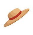 sun hat summer vector image