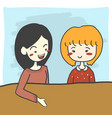 two women or girl portrait smiling vector image vector image