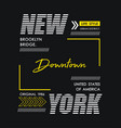 typography new york usa style vector image