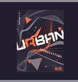 urban waves expressive geometric t-shirt vector image vector image