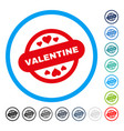 valentine stamp seal rounded icon vector image vector image