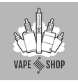 Vape label icon vector image