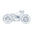 vintage motorcycle logo design template vector image vector image