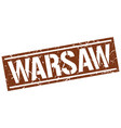 warsaw brown square stamp vector image vector image