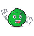 waving brussels character cartoon style vector image vector image