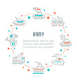 website banner and landing page army vector image vector image
