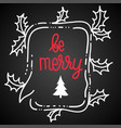 with speech bubble holly leaves vector image vector image