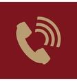 The phone icon Phone symbol Flat vector image