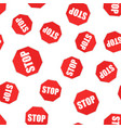 red stop sign seamless pattern background vector image