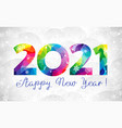 2021 colorful stained winter snowfall vector image