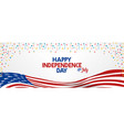4th july happy independence day united state vector image
