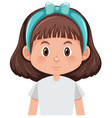 a brunette girl character vector image vector image