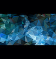 abstract irregular polygon background blue green vector image vector image